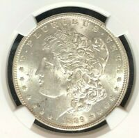 1889 VAM 22 NGC AU58 MORGAN SILVER DOLLARGENE L HENRY LEGACY COLLECTION 001