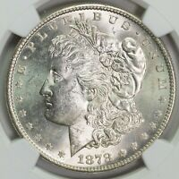 1878 S NGC MINT STATE 63 MORGAN SILVER DOLLAR ITEMT12322