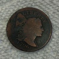 1796 DRAPED BUST LARGE CENT OLD US 1/100 COIN