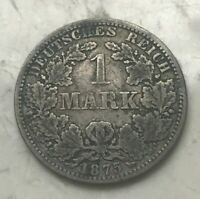 1875 A GERMANY 1 ONE MARK   SILVER