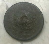1816 CORONET HEAD LARGE CENT   SOLDERED OLD BUTTON?