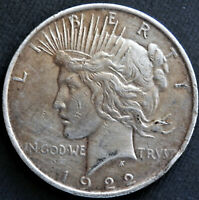 1922 PEACE DOLLAR, LOOKS  FINE