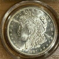 1881-S  MORGAN SILVER DOLLAR - PCGS MINT STATE 66  CAC  OGH   908