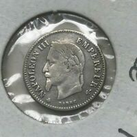1867 A FRANCE 50 CENTIMES   SMALL SILVER