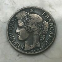 1850 A FRANCE 50 CENTIMES   SILVER