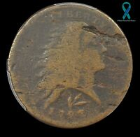 1793 WREATH LARGE CENT WITH LETTERED EDGE PCGS GOOD DETAILS