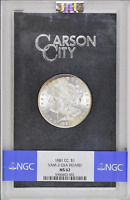 1881 CC GSA NGC MINT STATE 62 VAM 2 GREAT LUSTER SOME TONING