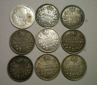 1880 1896 1899 1904 1907 1910 1912 1919 AND 1920 CANADA 5 CE