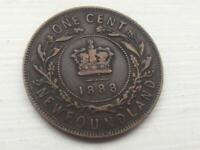 VICTORIA 1888 1 CENT COIN NEWFOUNDLAND CANADA LISTING AND PH