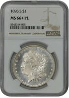 1895-S MORGAN DOLLAR $ MINT STATE 66 PL PROOF-LIKE NGC 942093-1