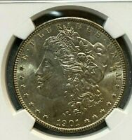 1901 O MORGAN SILVER DOLLAR NGC MINT STATE 64  INCREDIBLE DETAIL   004