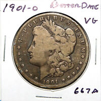 1901-O MORGAN SILVER DOLLAR $1 VG  GOOD BETTER DATE 667A