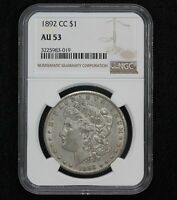 1892-CC MORGAN DOLLAR NGC AU-53 0WWH