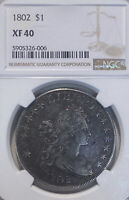 1802 NGC EXTRA FINE 40 $1 FLOWING HAIR