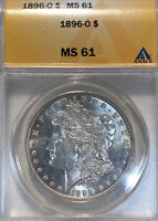 1896-O ANACS $1 MORGAN ONE DOLLAR