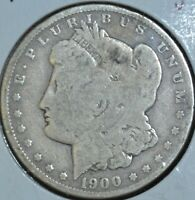 1900-O G GOOD MORGAN SILVER DOLLAR $1 COIN