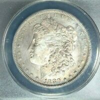 1880-S MORGAN SILVER DOLLAR  ANACS MINT STATE 63 VAM 11 HOT 50 BEAUTIFUL COIN