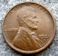 UNITED STATES 1921 S CENT LINCOLN WHEAT, SAN FRANCISCO MINT HIGH GRADE AUNC