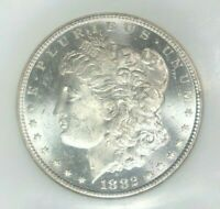 1882-CC MORGAN SILVER DOLLAR - NGC MINT STATE 63PL BEAUTIFUL COIN REF53-006