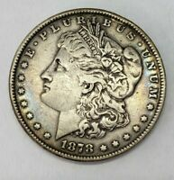 US 1878 7 TAIL FEATHERS MORGAN DOLLAR COIN   HUGE COIN ESTATE