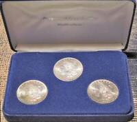 DISPLAY SET 1883-O 1884-O 1885-O MORGAN SILVER DOLLARS
