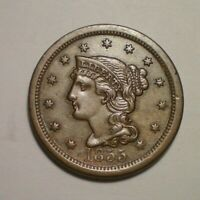 1855 LARGE CENT VF XF
