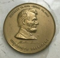 LARGE ABRAHAM LINCOLN LINCOLN MEMORIAL MEDAL