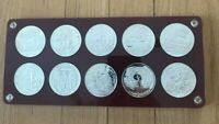 1969 TUNISIA DINAR PROOF SET   SILVER   IN CAPITOL HOLDER