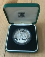 1985 GUERNSEY 2 POUNDS SILVER PROOF   LIBERATION FROM GERMANY