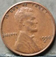 1950 D LINCOLN WHEAT CENT,  FREE & PROMPT SHIPPING