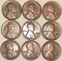 1916-S 1917-S 1918-S 1921-S 1923-S 1924-S 1925-S  1927-S 1928-S  LINCOLN CENTS