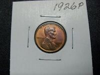 1926-P LINCOLN CENT, RED, BU UNC