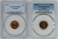 CANADA SMALL CENTS 1979 PCGS SP65RD   1992 PCGS SP67RD
