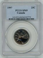 CANADA 25 CENTS 1997 PCGS SP69
