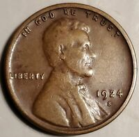 1924-S LINCOLN CENT WITH A MAGNIFICENT OBVERSE, FLAWLESS SURFACES &  TONE