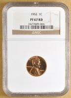 1952 PROOF LINCOLN WHEAT CENT NGC PF67RD