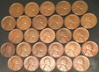 1930-PDS 1931-P 1932-P&D 1933-P 1934-PD-1940-PDS // 27 VG-VF LINCOLN CENTS