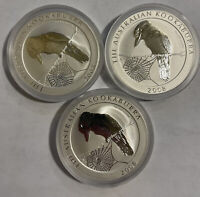 2008 KOOKABURRA SILVER PROOF LOT OF THREE