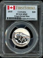 CANADA 2015 $20 PCGS SP69 GINGERBREAD MAN 20 FOR 20
