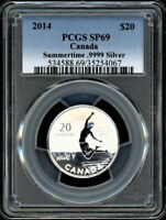 CANADA 2014 $20 PCGS SP69 SUMMERTIME 20 FOR 20