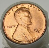 1946-S LINCOLN CENTS UNCIRCULATED WHEAT CENT ROLL OF IMPAIRED UNC/BU PENNIES 2