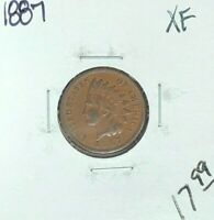 1887 INDIAN HEAD CENT  EXTRA FINE   COIN
