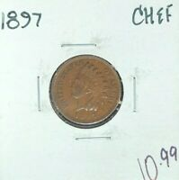 1897 INDIAN HEAD CENT  CH/EF  COIN