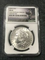 1898-O NGC MINT STATE 64 MORGAN SILVER DOLLAR-PEDIGREE: GREAT NORTHWEST COLLECTION