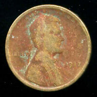 1917 S WHEAT CENT KEY DATE US CIRCULATED ONE LINCOLN  1 CENT U.S COIN 1369
