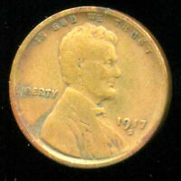 1917 S WHEAT CENT KEY DATE US CIRCULATED ONE LINCOLN  1 CENT U.S COIN 1252