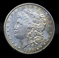 1900-S CHOICE UNC DETAILS TONED MORGAN SILVER DOLLAR [011DUD]