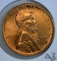 1942 D LINCOLN 1 BU FROM ORIGINAL ROLL  A3