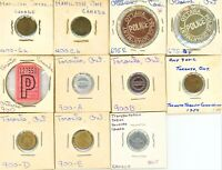 CANADA LOT OF 51 TRANSPORTATION RELATED TOKENS