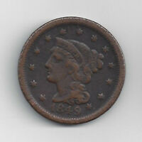 1839 1857 BRAIDED HAIR LARGE CENT BY US MINT.
